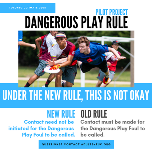 Dangerous Play rule change pilot project